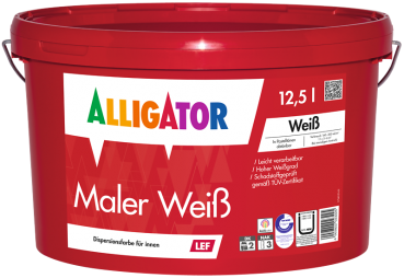 ALLIGATOR  Maler Weiß LEF